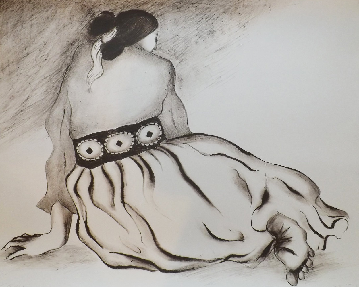Woman With Concho TP 1976 Limited Edition Print by R.C. Gorman