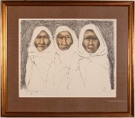 Three Taos Men 1970 Limited Edition Print by R.C. Gorman - 1