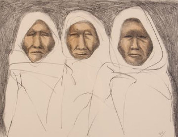 Three Taos Men 1970 Limited Edition Print - R.C. Gorman