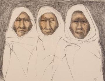 Three Taos Men 1970 Limited Edition Print - R.C. Gorman