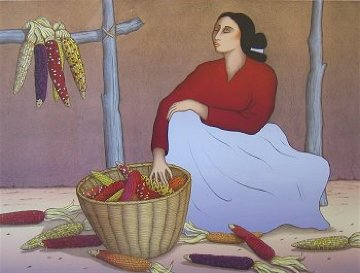 Sacred Corn 1991 Limited Edition Print - R.C. Gorman