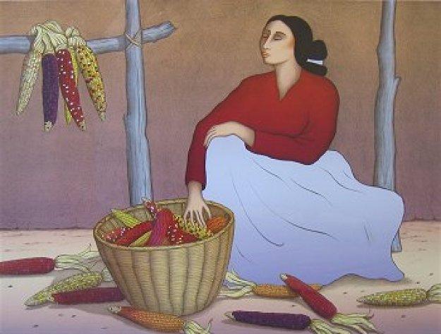 Sacred Corn 1991 Limited Edition Print by R.C. Gorman