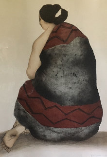 Woman With Manta 1977 Limited Edition Print by R.C. Gorman
