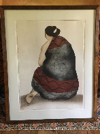 Woman With Manta 1977 Limited Edition Print by R.C. Gorman - 1