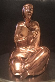 Sitting Woman Rare Cast Copper Sculpture  1980 Sculpture by R.C. Gorman