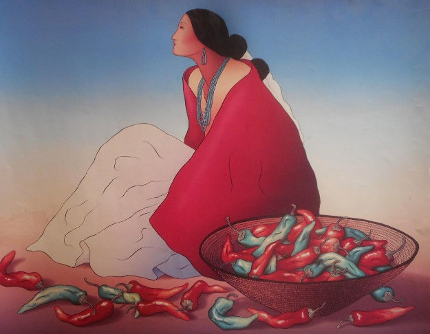 Navajo Chiles 1978 Limited Edition Print by R.C. Gorman