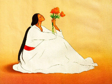 Navajo Poppies Limited Edition Print - R.C. Gorman