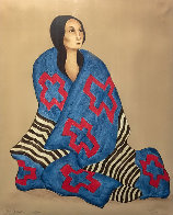 Chief's Blanket State 1 1980 Limited Edition Print by R.C. Gorman - 0