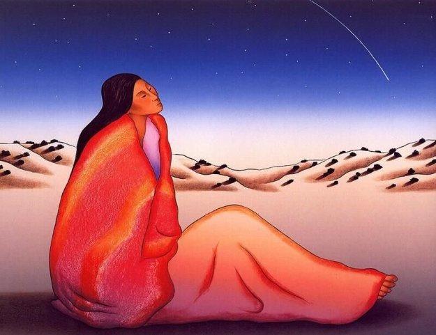 Falling Star 1986 by R.C. Gorman