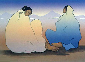 Painted Desert Women 1983 Limited Edition Print by R.C. Gorman