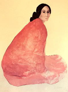 Untitled Portrait of a Woman Pastel 1980 23x30 Works on Paper (not prints) - R.C. Gorman
