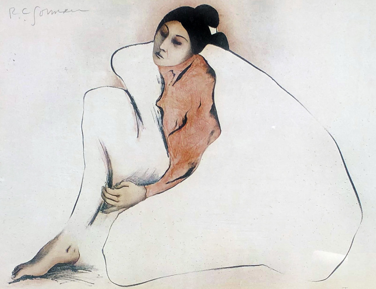 Woman From Indian Wells 1977 Limited Edition Print by R.C. Gorman