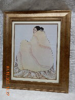 Untitled (Woman with Beige Blanket) 1977 Limited Edition Print by R.C. Gorman - 2