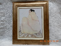 Untitled (Woman with Beige Blanket) 1977 Limited Edition Print by R.C. Gorman - 1