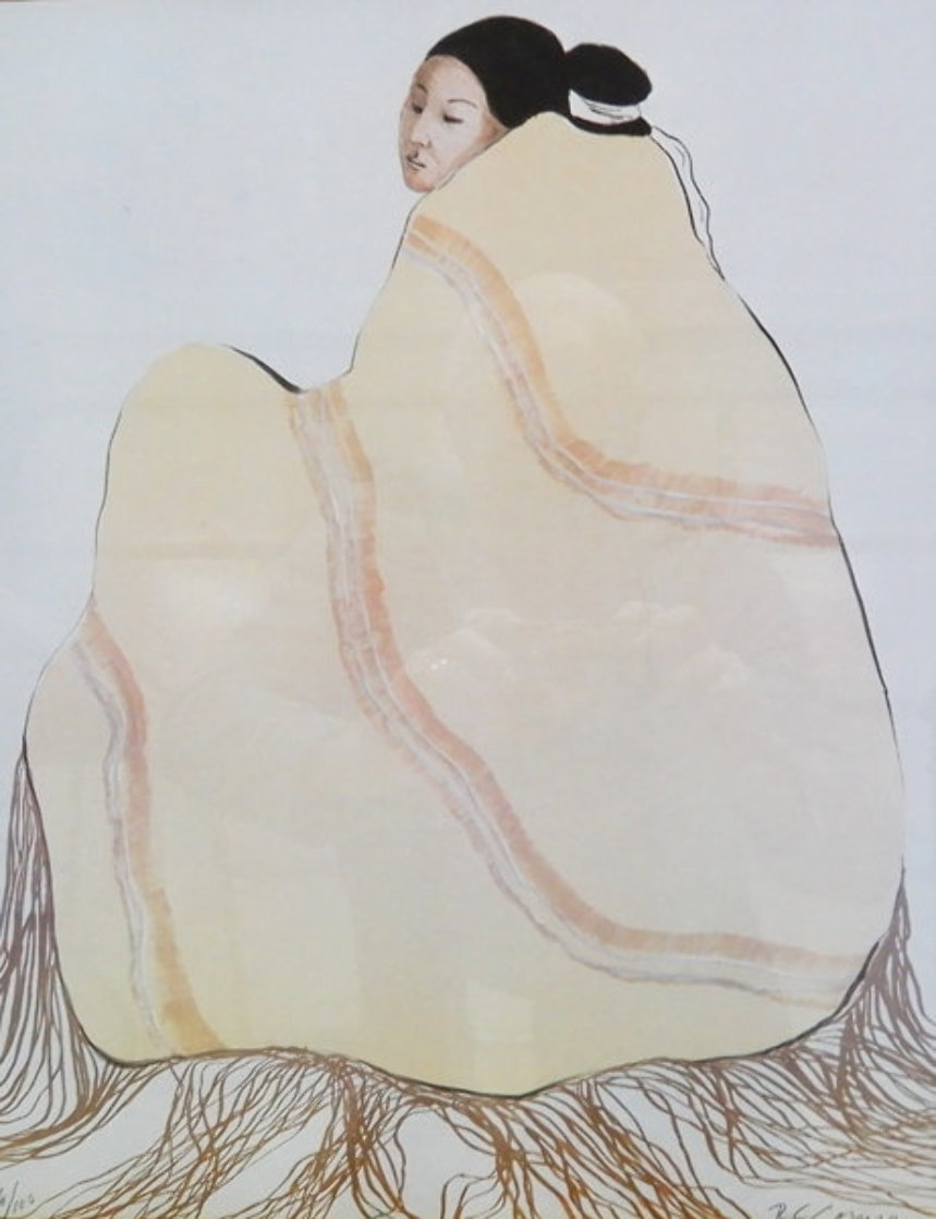 Untitled (Woman with Beige Blanket) 1977 Limited Edition Print by R.C. Gorman