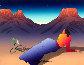 Desert Lily 1988 Limited Edition Print by R.C. Gorman