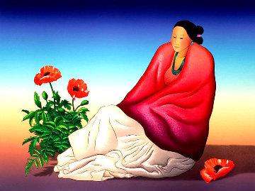 Taos Poppies 1990 Limited Edition Print - R.C. Gorman