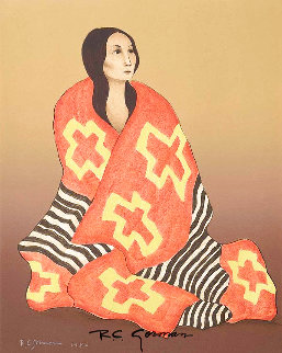 Chief's Blanket State II 1980 Limited Edition Print - R.C. Gorman