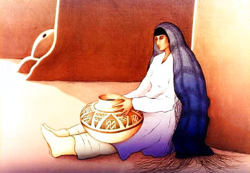 Woman From the Third Mesa 1988 Limited Edition Print - R.C. Gorman