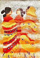 Gossips Wool Tapestry 1979 60x79 Super Huge Tapestry by R.C. Gorman - 2