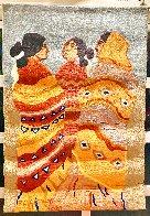 Gossips Wool Tapestry 1979 60x79 Super Huge Tapestry by R.C. Gorman - 1