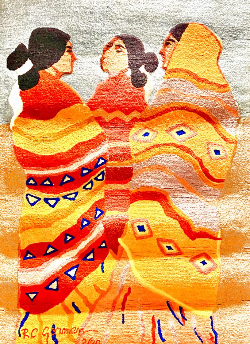Gossips Wool Tapestry 1979 60x79 Super Huge Tapestry by R.C. Gorman