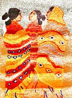 Gossips Wool Tapestry 1979 79 in Tapestry by R.C. Gorman - 0