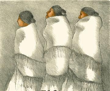 Three Navajo Women 1970 Limited Edition Print - R.C. Gorman