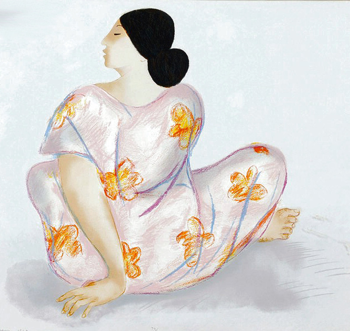Woman From Maui State I 1983 Limited Edition Print by R.C. Gorman