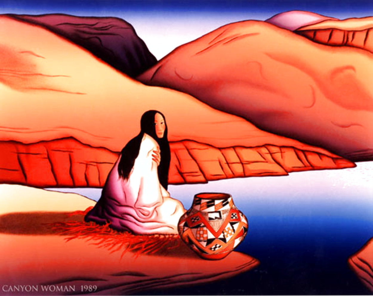 Canyon Woman 1989 Limited Edition Print by R.C. Gorman