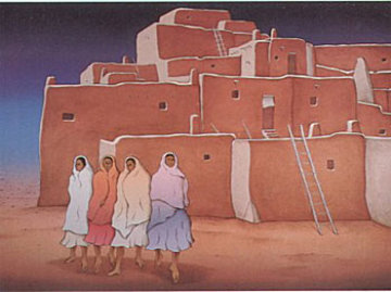 Taos Night 1986 Limited Edition Print - R.C. Gorman