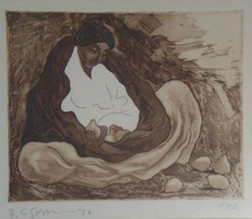 Lady with Pears 1978 Limited Edition Print by R.C. Gorman
