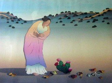 Flowers Of Los Lunas 1987 Limited Edition Print by R.C. Gorman