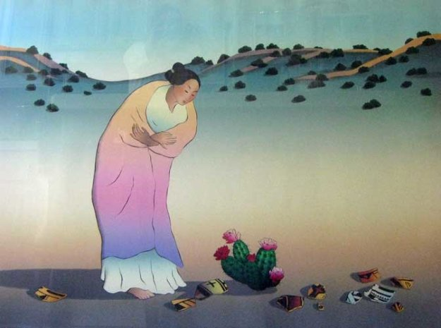 Flowers Of Los Lunas 1987 Limited Edition Print by R.C. Gorman