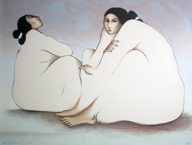 Woman From Chaco Canyon 1983 Limited Edition Print by R.C. Gorman