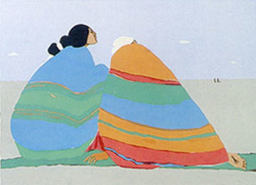 Mothers in Law 1979 Limited Edition Print by R.C. Gorman