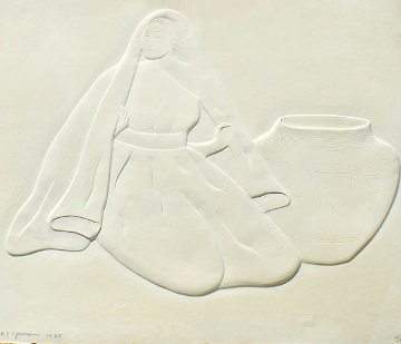 Untitled Cast Paper 1987 Limited Edition Print by R.C. Gorman