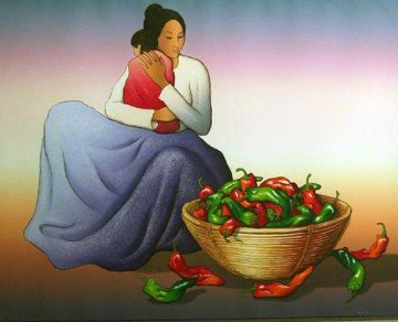 Carmen and Child AP 1988 Limited Edition Print by R.C. Gorman