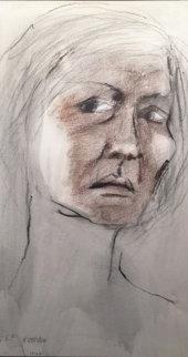 Untitled Portrait of a Woman Pastel 1968 14x10 Original Painting by R.C. Gorman