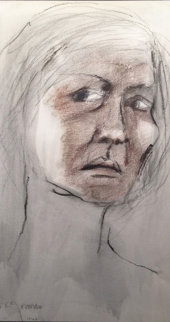 Untitled Portrait of a Woman Pastel 1968 14x10 Works on Paper (not prints) - R.C. Gorman