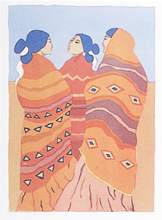 Gossips 1977 Limited Edition Print - R.C. Gorman