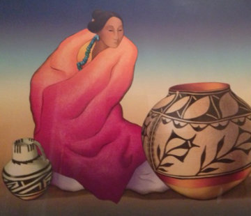 Thistle Jar 1987 Limited Edition Print by R.C. Gorman