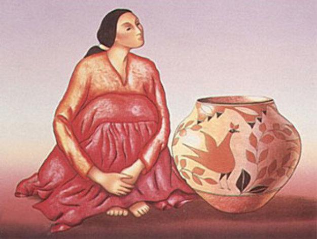 Zia Jar 1985 Limited Edition Print by R.C. Gorman