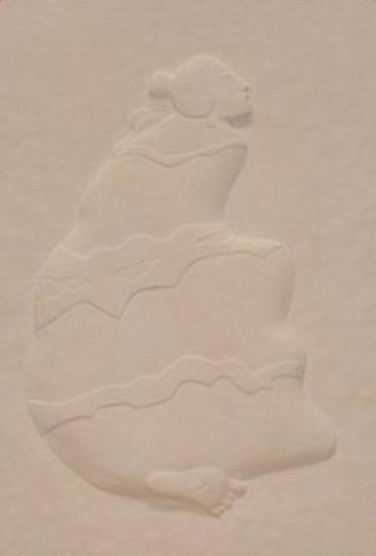 Storyteller 3 pc Triptych Cast Paper Sculptures 1989 Limited Edition Print by R.C. Gorman