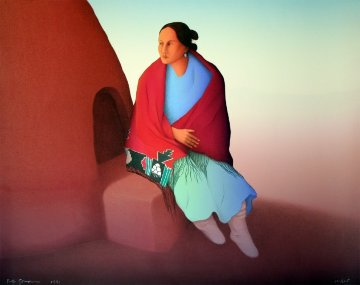 Indian Woman 1991 Limited Edition Print by R.C. Gorman