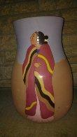 Meeting Ceramic Vase 1989 16 in Sculpture by R.C. Gorman - 3