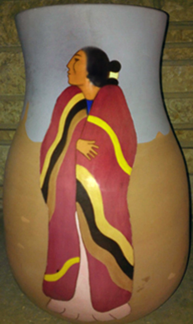 Meeting Ceramic Vase 1989 16 in Sculpture by R.C. Gorman