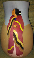 Meeting Ceramic Vase 1989 16 in Sculpture by R.C. Gorman - 0