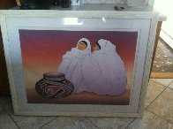 Taos Traders 1989 Limited Edition Print by R.C. Gorman - 1