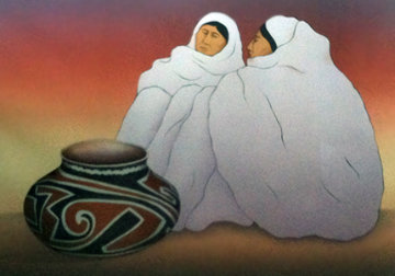 Taos Traders 1989 Limited Edition Print by R.C. Gorman